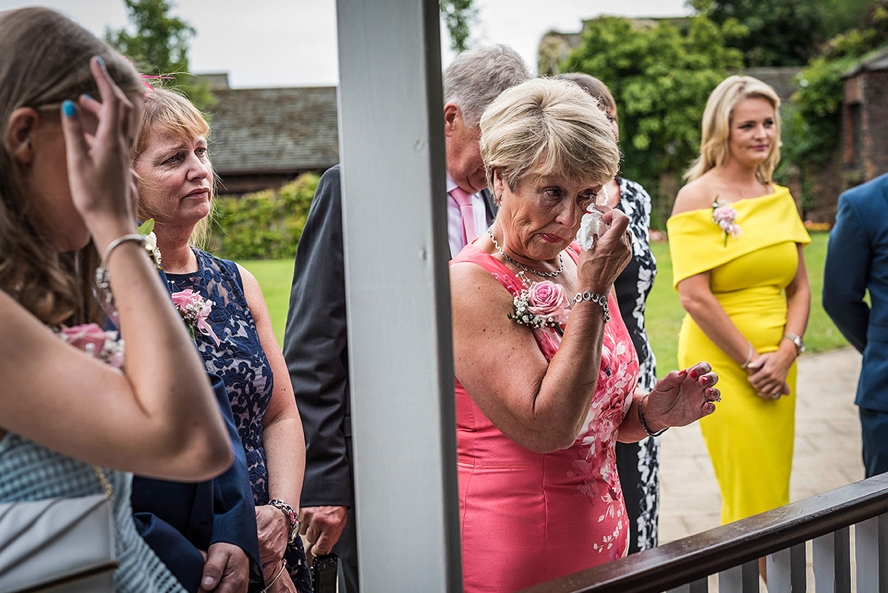 wedding guests crying during vows