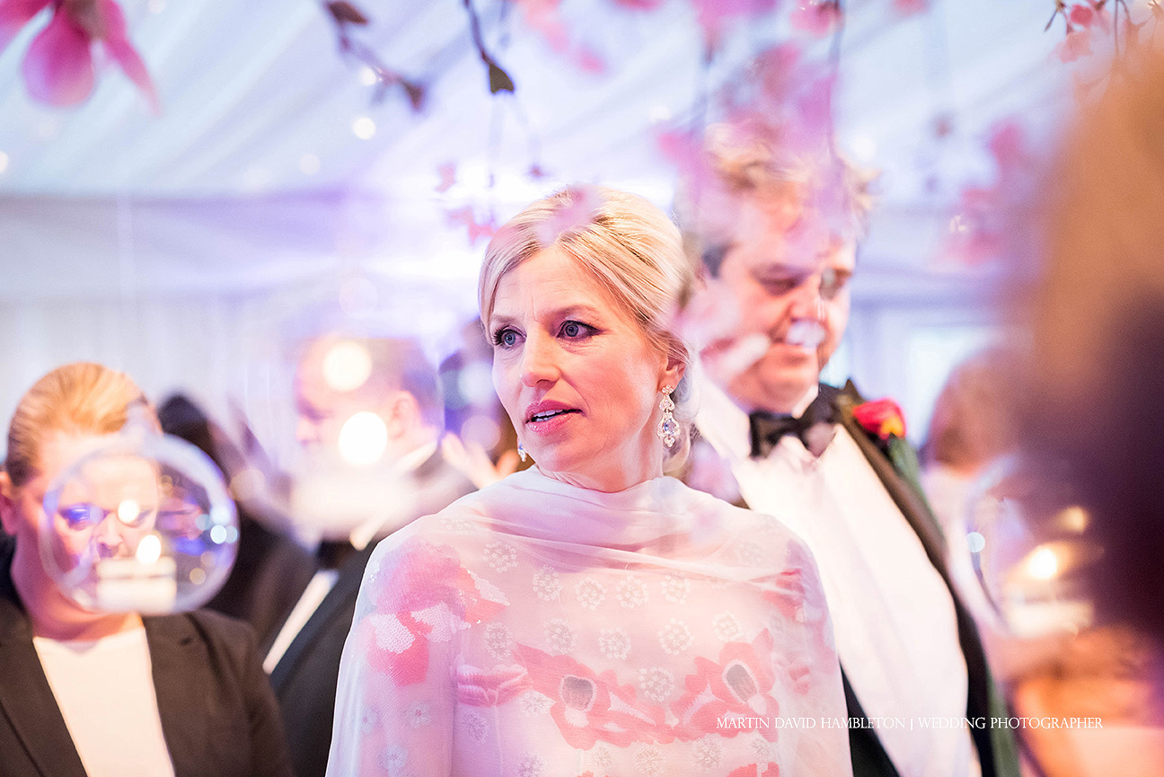 bride in the marquee at capesthorne hall