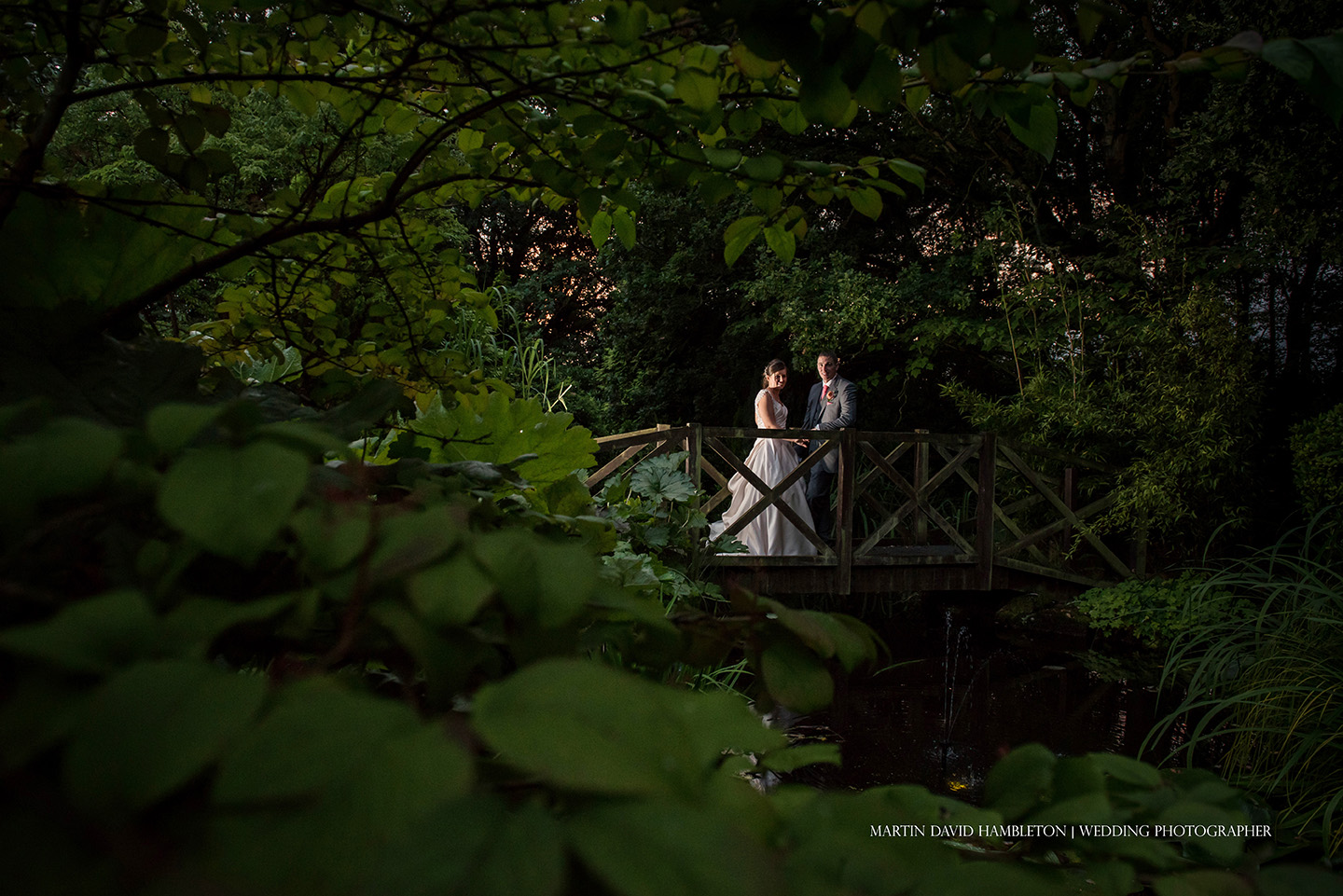 evening wedding portrait